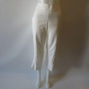 WOMEN'S AKRIS PUNTO WHITE FLARE LEG PANTS SZ 12*